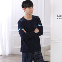 New pattern long sleeve men pajamas sets male Spring & Autumn 100% Pure cotton Man sleepwear clothes home wear clothes Suit