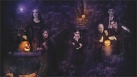 24X36 INCH / ART SILK POSTER / Perfectly wonderful abstract poster Addams Family