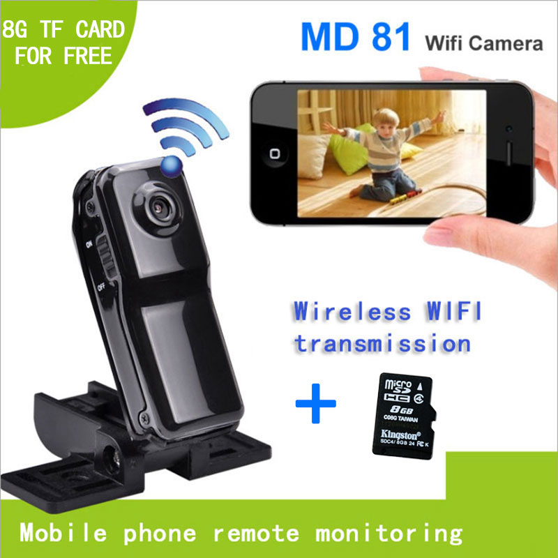 8G TF Card FREE Mini Portable Wifi IP Camera Video Camcorder Cam data Recorder for Iphone Android Personal body Security(China (Mainland))
