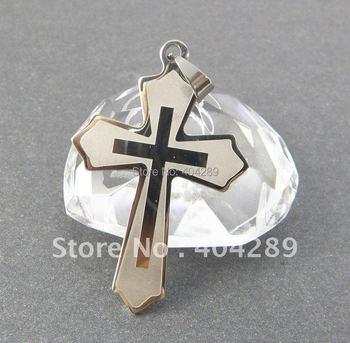 Wholesale 12pcs Stainless Steel Big Cross Pendant Nekclace Jewelry without Chain,Free Shipping SZ015