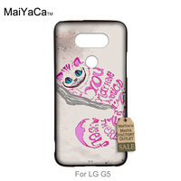 Classic image paintings cover mobile phone For LG G5 case cheshire cat quotes