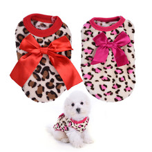 Buy Pet Dog Puppy Clothes Dogs Bowknot Costume Pajamas Clothing Leopard Pattern Hoodie Coat Coats small milk Puppy Dog New for $1.01 in AliExpress store