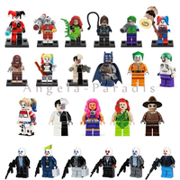 230pcs Super heros Minifigures Suicide Squad Joker Harley Quinn Batman Two Face Scarecrow Starfire DC blocks Baby toys