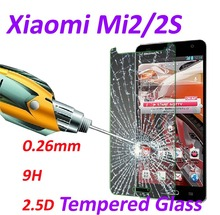 0.26mm 9H Tempered Glass screen protector phone cases 2.5D protective film For Xiaomi Mi2s M2s Mi2 M2