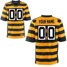 100% stitched Pittsburgh Steelers Personalized Embroidery Logos Customized Any Name And Number Men Women youth size S to 3XL(China (Mainland))