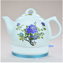 Multiple color change 1.0/1.2/1.5L peony Phnom Penh lotus leaf Porcelain Rose Porcelain ceramic electric heating kettle(China (Mainland))