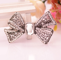 Retro Hair Accessories Bowknots Barrettes Crystal Hair Clip Barrettes Women Costume Classic Hair Jewelry