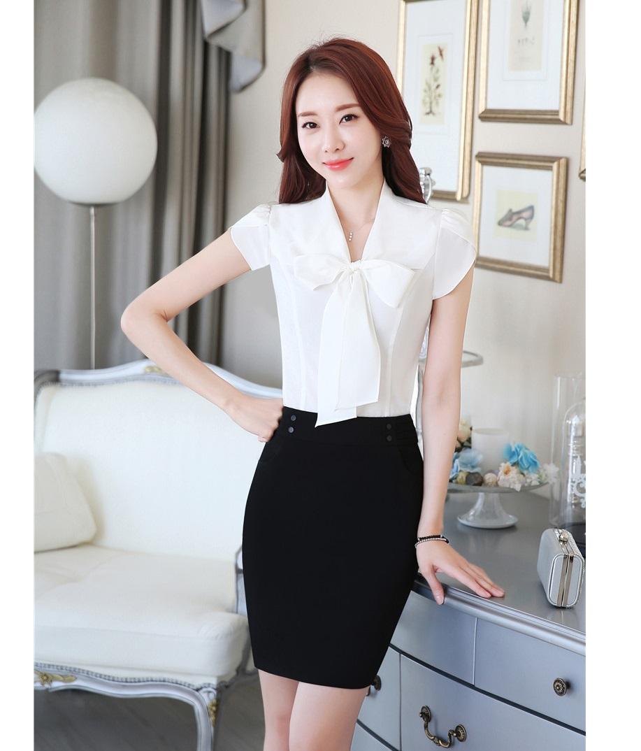 Compra uniformes de oficina blusa y falda online al por Diseno de uniformes para oficina 2017