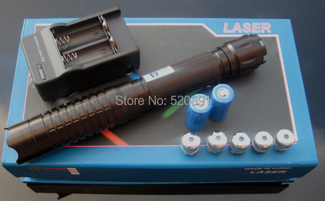 Фотография 450nm100000mw 100W High Power Blue Laser Pointers Flashlight burning match/paper/dry wood/black/burn cigarettes+Charger+box