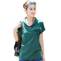 Cotton t shirt for women tops black green korean fashion clothing short sleeve plus size big size women clothes t-shirt WH084