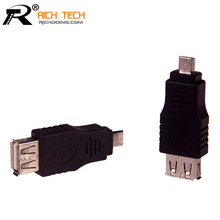 Buy Micro usb male plug USB female connector tablet computer adapter OTG v8 adapter electrical accessories usb male female jack for $1.46 in AliExpress store