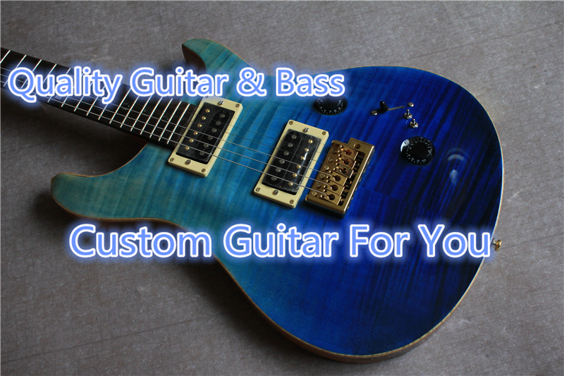 Hot Selling China PRS Guitarra Electrica With Tiger Flame Finish Custom 22 PRS Guitar Body & Kits Avaialble(China (Mainland))