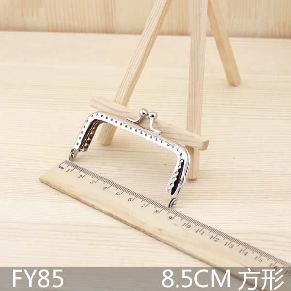 20pcs/lot Silver tone square Metal Purse Frame for coin purse sewing diy bag accesspries wholesale lot freeshipping(China (Mainland))