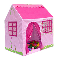 H&L Multi-function Pinky Castle Pop Up Indoor Outdoor Garden House Shape Play Tent Outdoor And Indoor Princess Tower Play Tent