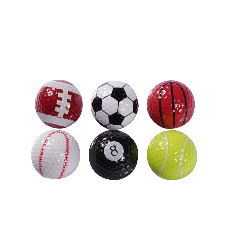 6PCs Novelty Colorful Sports Golf Balls Ball Golf Game Indoor Outdoor Training Gift(China (Mainland))