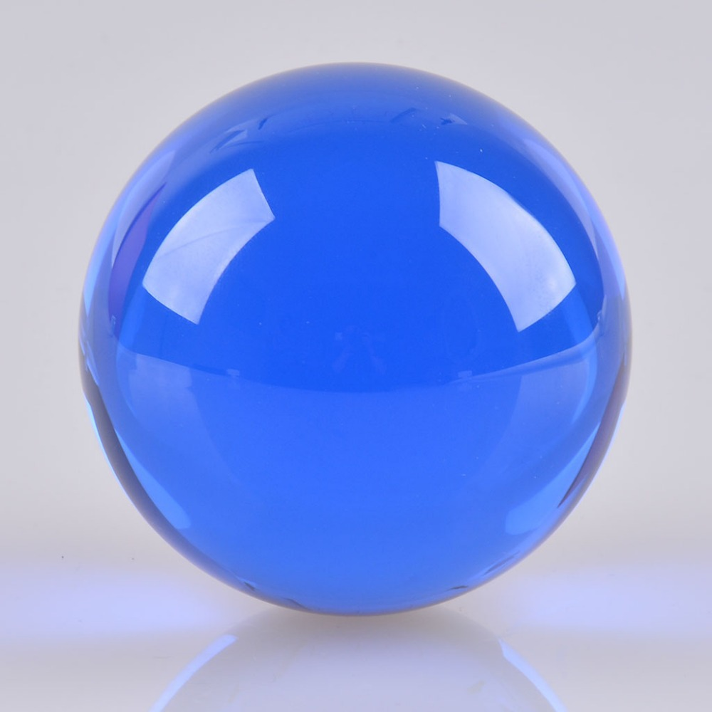 Quot cm mm blue crystal ball glass sphere