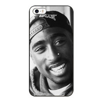 Tupac 2pac FashionHard Black Case For iPhone5 5S