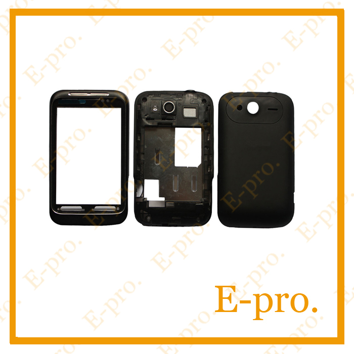 Original Full Housing Cover Case For HTC Wildfire S A510e G13 Housing With Side Key Black White Color +Tools Free Tracking No.(China (Mainland))