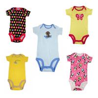 5pcs per pack baby boy girl short sleeve onesie bodysuit