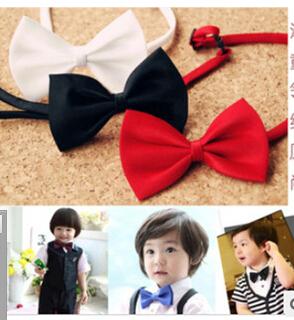 1 пк дети чистый цвет шелк галстук-бабочка дети школа день рождения подарок