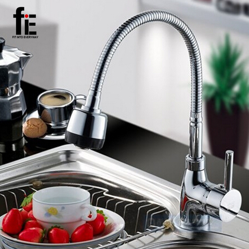 Free Shipping Solid Brass Kitchen Mixer Cold and Hot Kitchen Tap Single Hole Water Tap Kitchen Faucet torneira cozinha(China (Mainland))
