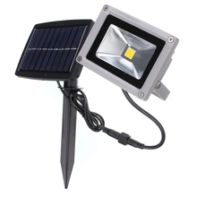 Big Promotion 10W Solar Power LED Flood Night Light Waterproof Outdoor Garden Decoration Landscape Spotlight Wall Lamp Bulb(China (Mainland))