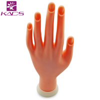 Professional Nail Art Practice Hand, Soft Training Display Model Hands,Super Flexible Human Fingers For Personal & Salon