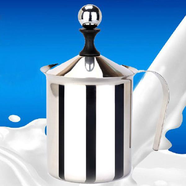 Здесь можно купить  Stainless Steel Milk Frother Cappuccino 800mL Stainless Steel Milk Creamer Foam Double Mesh  Дом и Сад