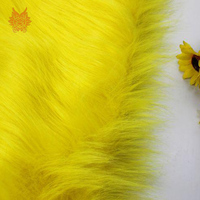 High grade 7cm long hair yellow faux fur fabric for winter coat,vest,cosplay stage decor free shipping 150*50cm 1piece SP2575