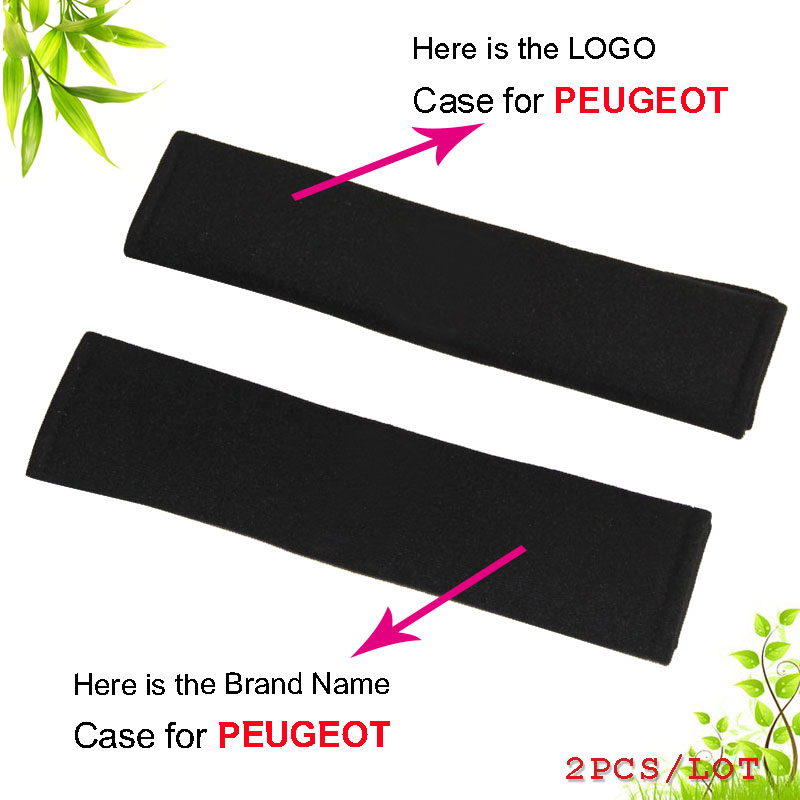 Excellent car-styling all cotton safety seat belts cover case for PEUGEOT interior accessories car styling car stickers 2PCS/LOT(China (Mainland))