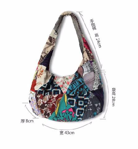 women handbag shoulder bag tote bags canvas national  (3)
