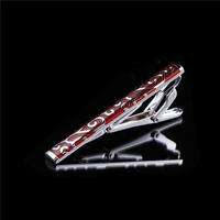 2016 Men's Clothing Suit Accessories Brand Concise inlay Enamel Tie Clips Pin Bar for men wedding buy wholesale