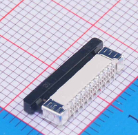 100Pcs/lot Vertical Type 0.5mm 20P FFC FPC Socket 0.5mm Pitch 20Pin Flexible Flat Cable Connector