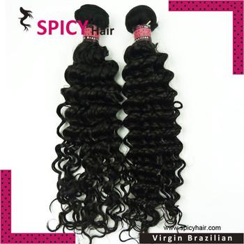 Spicy hair brazilian hair free shipping brazilian deep wave, 2pcs/pack