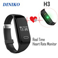 New Smart Bracelet H3 Wristband Heart Rate Monitor Bluetooth 4 0 Passometer Sports Fitness Tracker Smartband