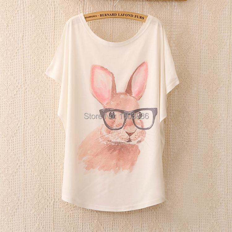 Women Summer T-shirt 2015 High Quality Fashion Tops For Women T-shirt Summer Animal Print Owl T Shirt Women Clothing(China (Mainland))