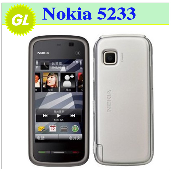 5pcs/Lot Nokia 5233 Original 2MP Camera mobile phone wholesale Nokia 5233 One Year Warranty(China (Mainland))