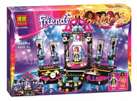 Bela 10406 friends series Pop Star Show Stage 448 pcs model building blocks assembly toy 41105 gift Compatible With Legoe LR-703