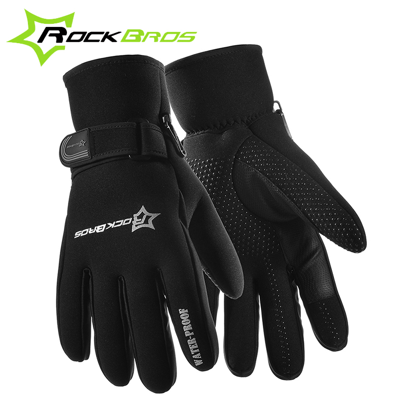 RockBros Windstopper Sports Skiing Riding Bike Cycling Gloves Windproof Winter Gloves Bicycle Thermal Warm Touch Screen Gloves(China (Mainland))
