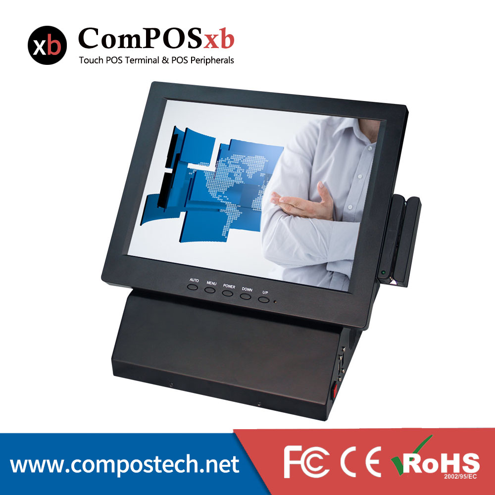 With MSR as gift! 12 inch Payment register pos system / point of sale / 5-wire touch screen all in one pc pos(China (Mainland))