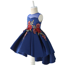 Buy Kids Party Dress Girl Toddler Children Embroidery Trailing Dress floral girl dress Baby Girl clothes Princess Dress 2-12 YEAR for $9.38 in AliExpress store