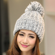Free Shipping 2016 New Fashion Winter Blending Sphere Winter Hat For Women/Ladies 7 Colors(China (Mainland))