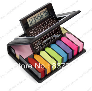Hot-selling belt calculator rotating notes gift set sticky n times stickers 2000pages(China (Mainland))