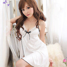 Sexy Women s Lingerie Lace Dress Intimate font b Babydoll b font White Sleepwear G string