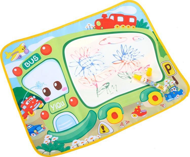 58*48cm Water Doodle Mat+1 Magic Pen Water Drawing Board Baby Play Toys Kids Drawing Water Mat Tablet Aqua Doodle(China (Mainland))