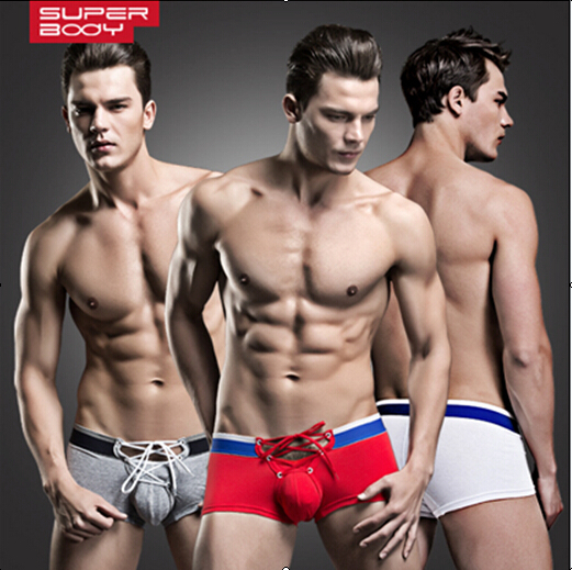 New Brand Fashion Sexy Mens Underwear Boxer Shorts Three Colors Size M,L,XL # SW03(China (Mainland))
