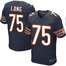 Men's #75 Kyle Long Elite Navy Blue Team Color Jersey 100% stitched(China (Mainland))