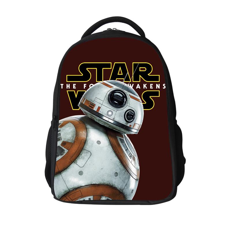 962f772dd6 16 12Inch Popular School Bag BB8 Cartoon Backpacks Child Star Wars Backpack  For Kids Boys Star Wars Bag For Girls Teenagers Bags