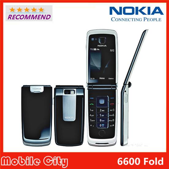 Cheap Nokia 6600F Original Refurbished Factory Unlocked Nokia 6600 Fold Mobile Phone Free Shipping(China (Mainland))