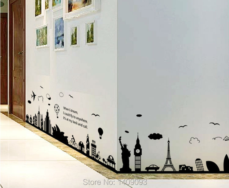home decor wall sticker world map wall sticker black vinyl london